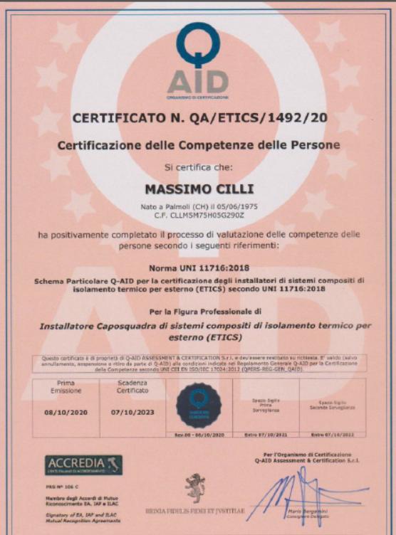 certificato caposquadra